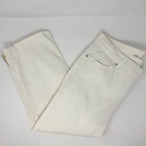 Gloria Vanderbilt White Jordyn Capri Pants SZ 10